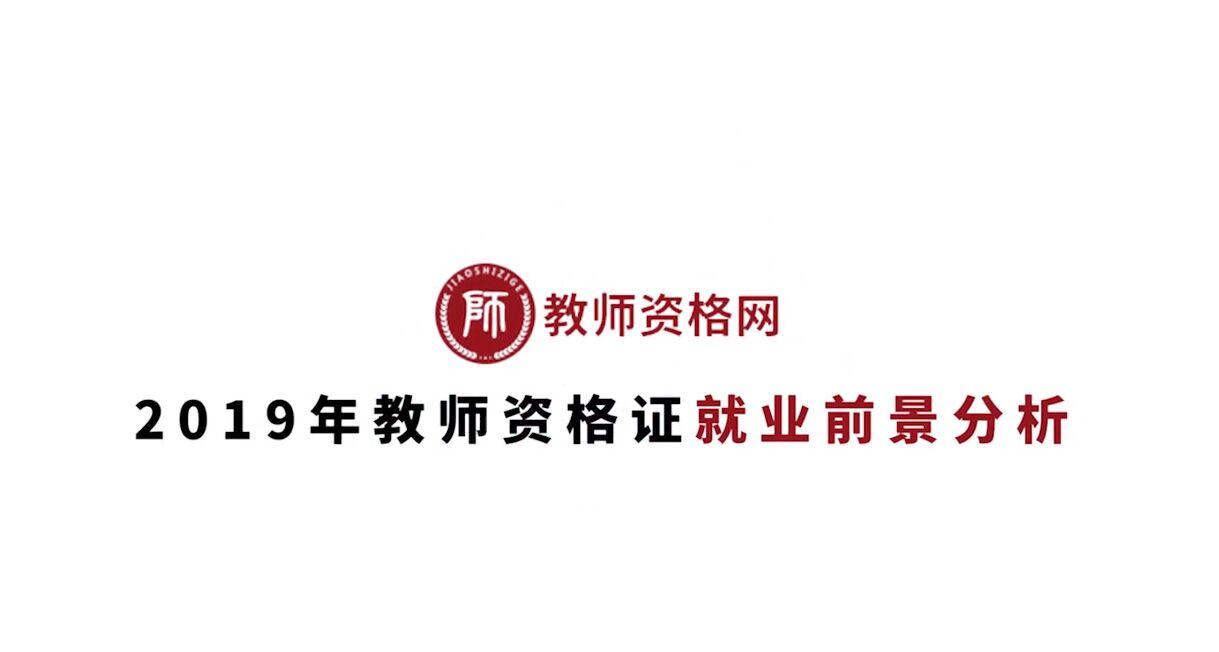 《2019年教師(shi)資格(ge)證就業前(qian)景分析》